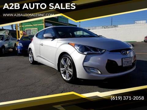 2012 Hyundai Veloster for sale at A2B AUTO SALES in Chula Vista CA