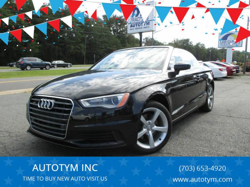 2016 Audi A3 for sale at AUTOTYM INC in Fredericksburg VA