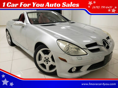2005 Mercedes-Benz SLK for sale at 1 Car For You Auto Sales in Peachtree Corners GA