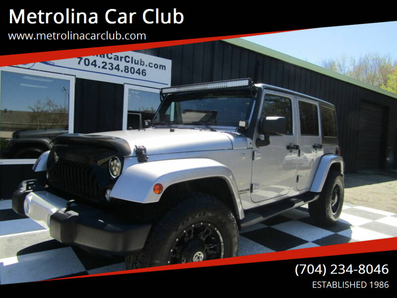 2014 Jeep Wrangler Unlimited for sale at Metrolina Car Club in Matthews NC