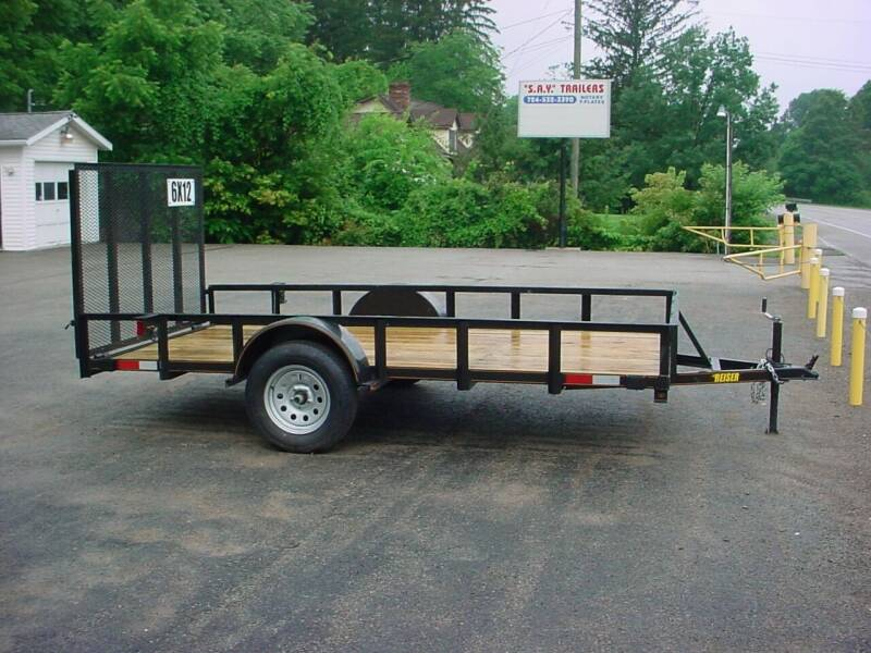 2022 Reiser 77x12 Utility for sale at S. A. Y. Trailers in Loyalhanna PA
