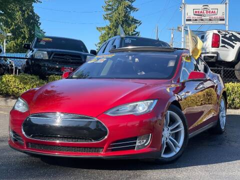 2013 Tesla Model S for sale at Real Deal Cars in Everett WA