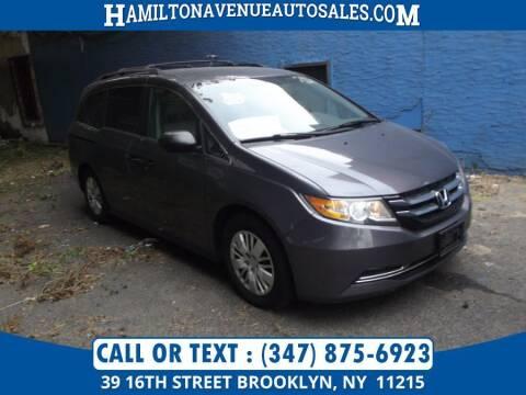 2016 Honda Odyssey for sale at Hamilton Avenue Auto Sales in Brooklyn NY