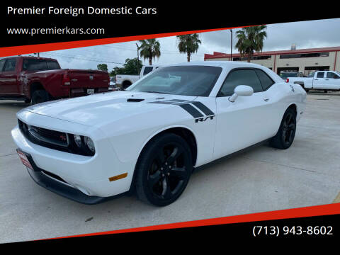 2012 Dodge Challenger for sale at Premier Foreign Domestic Cars in Houston TX