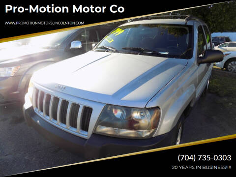2004 Jeep Grand Cherokee for sale at Pro-Motion Motor Co in Lincolnton NC
