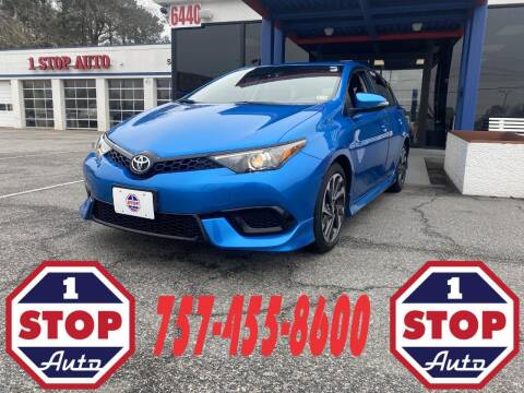 2018 Toyota Corolla iM for sale at 1 Stop Auto in Norfolk VA
