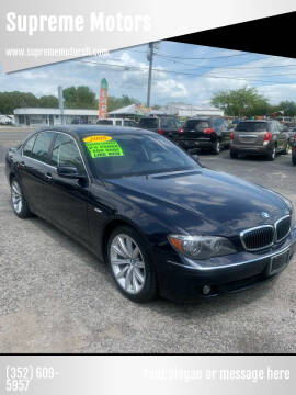 2008 BMW 7 Series for sale at Supreme Motors in Tavares FL