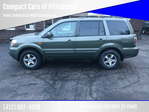 2008 Honda Pilot for sale at Compact Cars of Pittsburgh in Pittsburgh PA