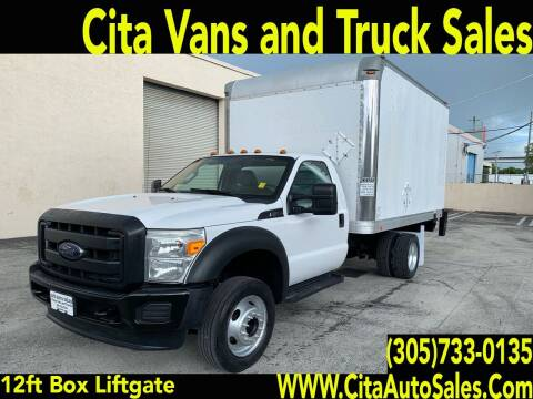 2014 FORD F450 SD 12 FT BOX TRUCK LIFTGATE for sale at Cita Auto Sales in Medley FL