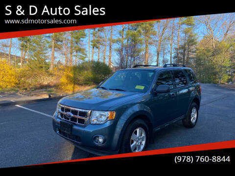 2012 Ford Escape for sale at S & D Auto Sales in Maynard MA