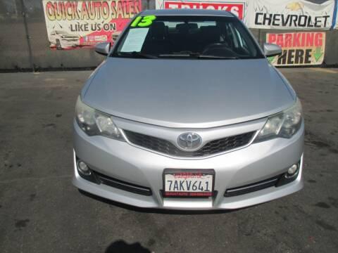 2013 Toyota Camry for sale at Quick Auto Sales in Modesto CA