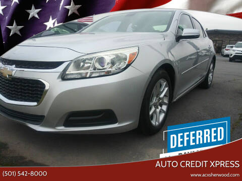 2015 Chevrolet Malibu for sale at Auto Credit Xpress in North Little Rock AR