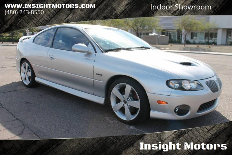 2006 Pontiac GTO for sale at Insight Motors in Tempe AZ
