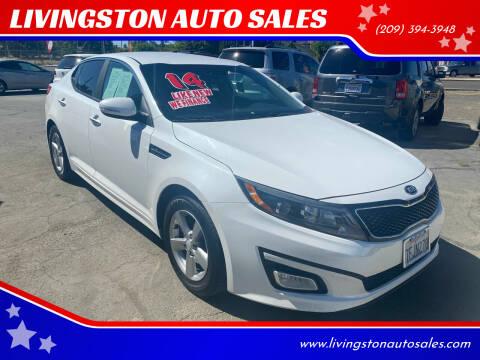 2014 Kia Optima for sale at LIVINGSTON AUTO SALES in Livingston CA
