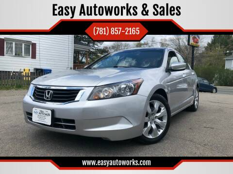 2008 Honda Accord for sale at Easy Autoworks & Sales in Whitman MA