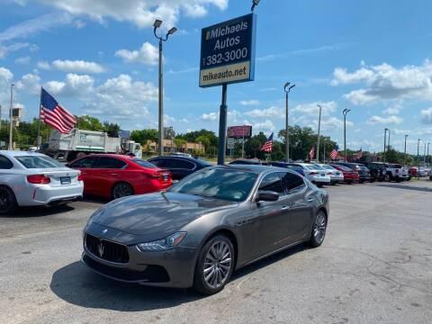 2017 Maserati Ghibli for sale at Michaels Autos in Orlando FL
