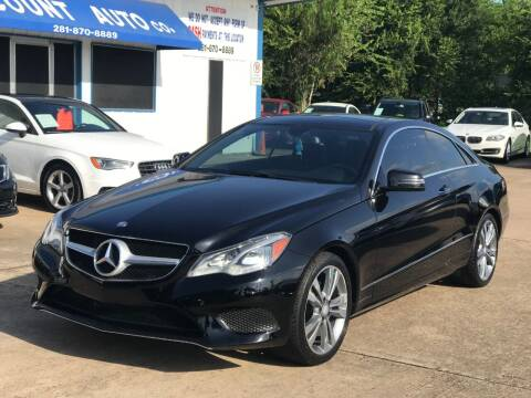 2014 Mercedes-Benz E-Class for sale at Discount Auto Company in Houston TX
