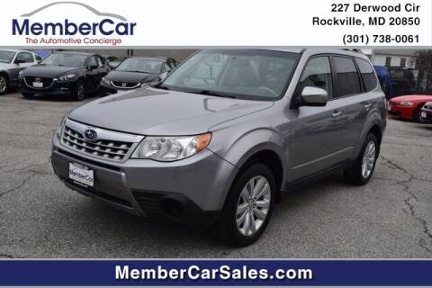 2011 Subaru Forester for sale at MemberCar in Rockville MD