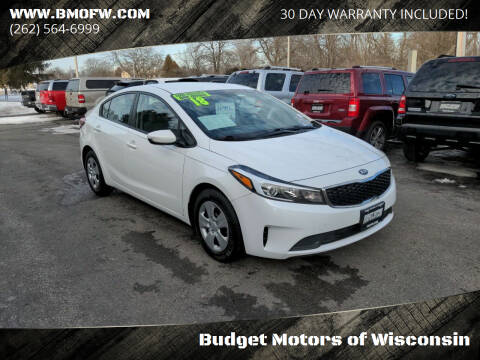 2018 Kia Forte for sale at Budget Motors of Wisconsin in Racine WI