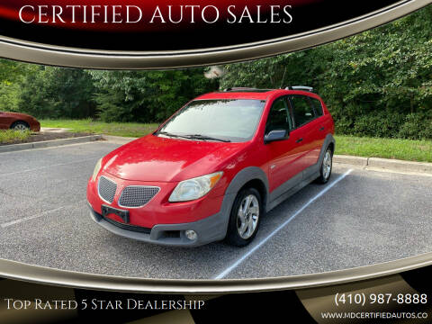 2005 Pontiac Vibe for sale at CERTIFIED AUTO SALES in Severn MD