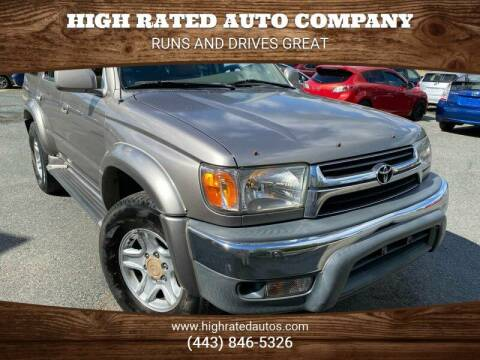 2001 Toyota 4Runner for sale at High Rated Auto Company in Abingdon MD