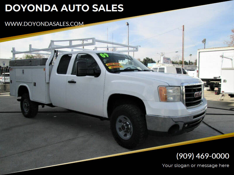 2009 GMC SIERRA 3500 EXTENDED CAB for sale at DOYONDA AUTO SALES in Pomona CA