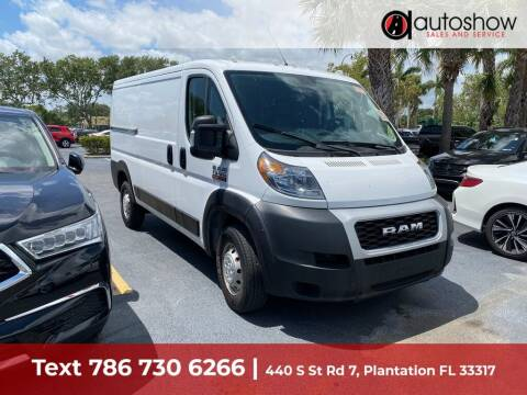 2019 RAM ProMaster Cargo for sale at AUTOSHOW SALES & SERVICE in Plantation FL