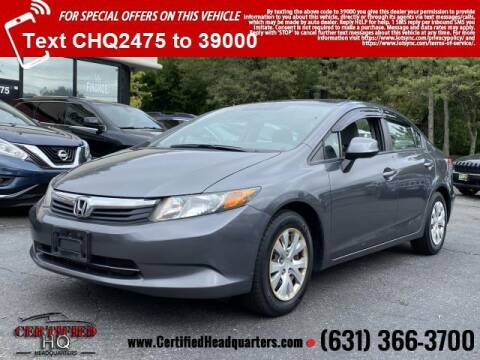 2012 Honda Civic for sale at CERTIFIED HEADQUARTERS in Saint James NY