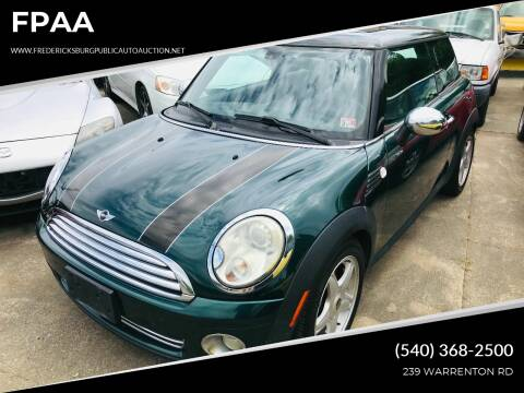 2009 MINI Cooper for sale at FPAA in Fredericksburg VA