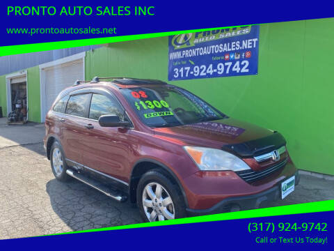 2008 Honda CR-V for sale at PRONTO AUTO SALES INC in Indianapolis IN