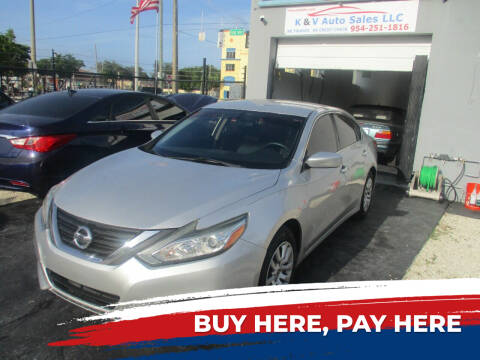 2016 Nissan Altima for sale at K & V AUTO SALES LLC in Hollywood FL