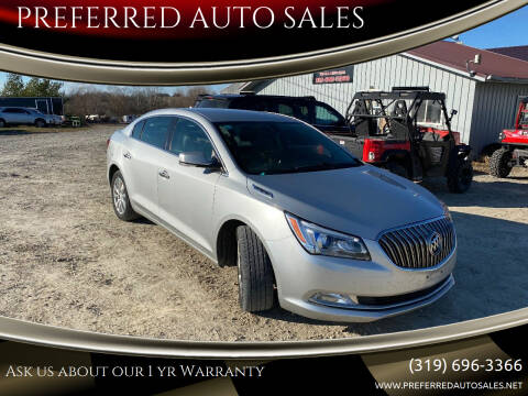 2014 Buick LaCrosse for sale at PREFERRED AUTO SALES in Lockridge IA