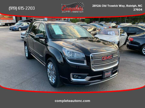 2013 GMC Acadia for sale at Complete Auto Center , Inc in Raleigh NC