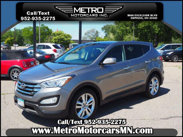 2013 Hyundai Santa Fe Sport for sale at Metro Motorcars Inc in Hopkins MN