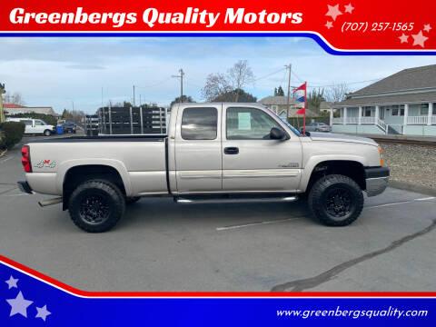 2005 Chevrolet Silverado 2500HD for sale at Greenbergs Quality Motors in Napa CA