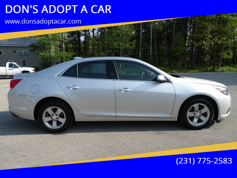 2015 Chevrolet Malibu for sale at DON'S ADOPT A CAR in Cadillac MI