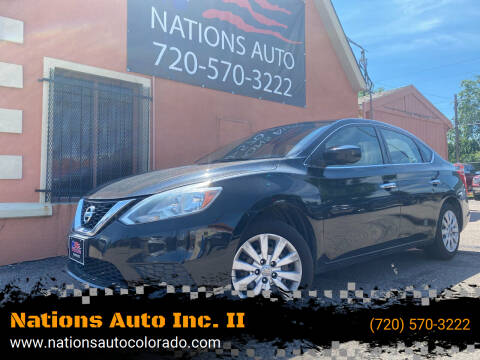 2017 Nissan Sentra for sale at Nations Auto Inc. II in Denver CO