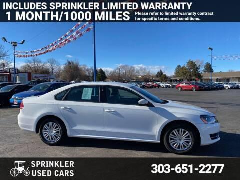 2015 Volkswagen Passat for sale at Sprinkler Used Cars in Longmont CO