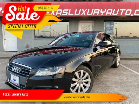 2010 Audi A4 for sale at Texas Luxury Auto in Cedar Hill TX