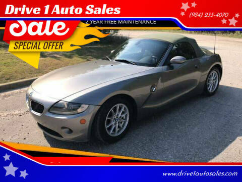 2005 BMW Z4 for sale at Drive 1 Auto Sales in Wake Forest NC