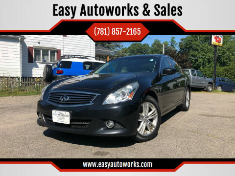 2012 Infiniti G25 Sedan for sale at Easy Autoworks & Sales in Whitman MA