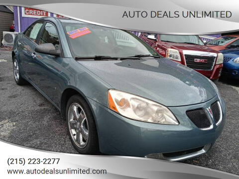 2009 Pontiac G6 for sale at AUTO DEALS UNLIMITED in Philadelphia PA