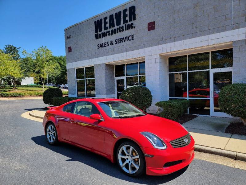 2004 Infiniti G35 for sale at Weaver Motorsports Inc in Cary NC