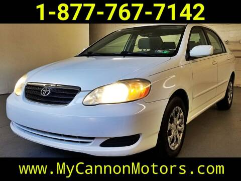 2006 Toyota Corolla for sale at Cannon Motors in Silverdale PA