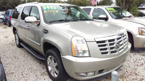 2007 Cadillac Escalade ESV for sale at Tony's Auto Sales in Jacksonville FL