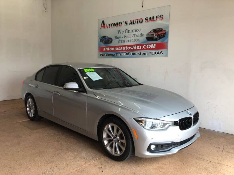 2018 BMW 3 Series for sale at Antonio's Auto Sales in South Houston TX