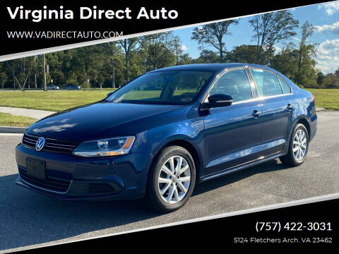 2013 Volkswagen Jetta for sale at Virginia Direct Auto in Virginia Beach VA
