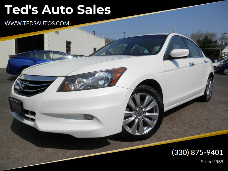 2012 Honda Accord for sale at Ted's Auto Sales in Louisville OH