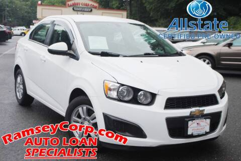 2016 Chevrolet Sonic for sale at Ramsey Corp. in West Milford NJ