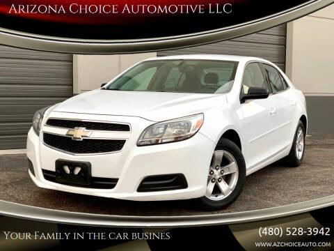 2013 Chevrolet Malibu for sale at Arizona Choice Automotive LLC in Mesa AZ